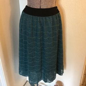 Aqua blue lularoe skirt